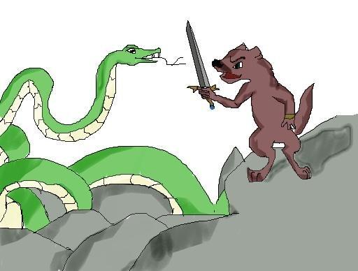 Бой со змеюгой