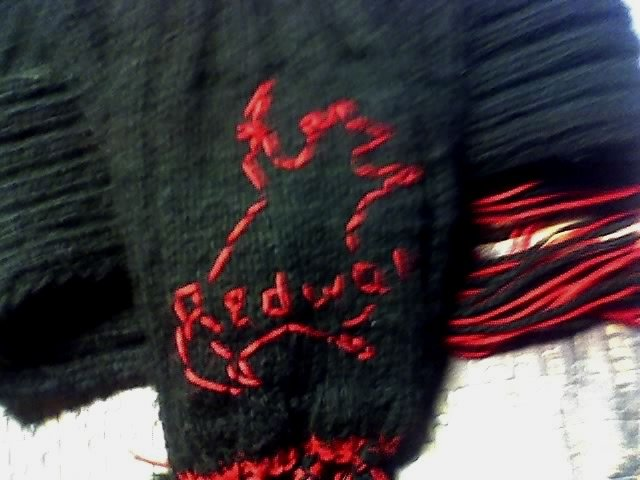 Шапка и шарф с вышивкой hand-made